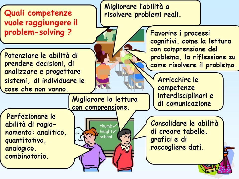 Quali competenze vuole raggiungere il problem-solving