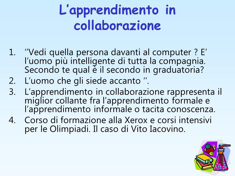L'apprendimento in collaborazione
