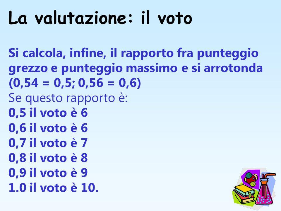 La valutazione: il voto