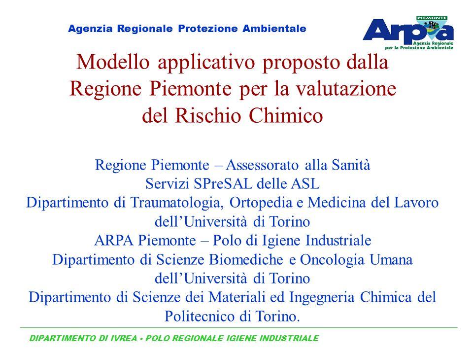 Modello applicativo proposto dalla Regione Piemonte per la valutazione