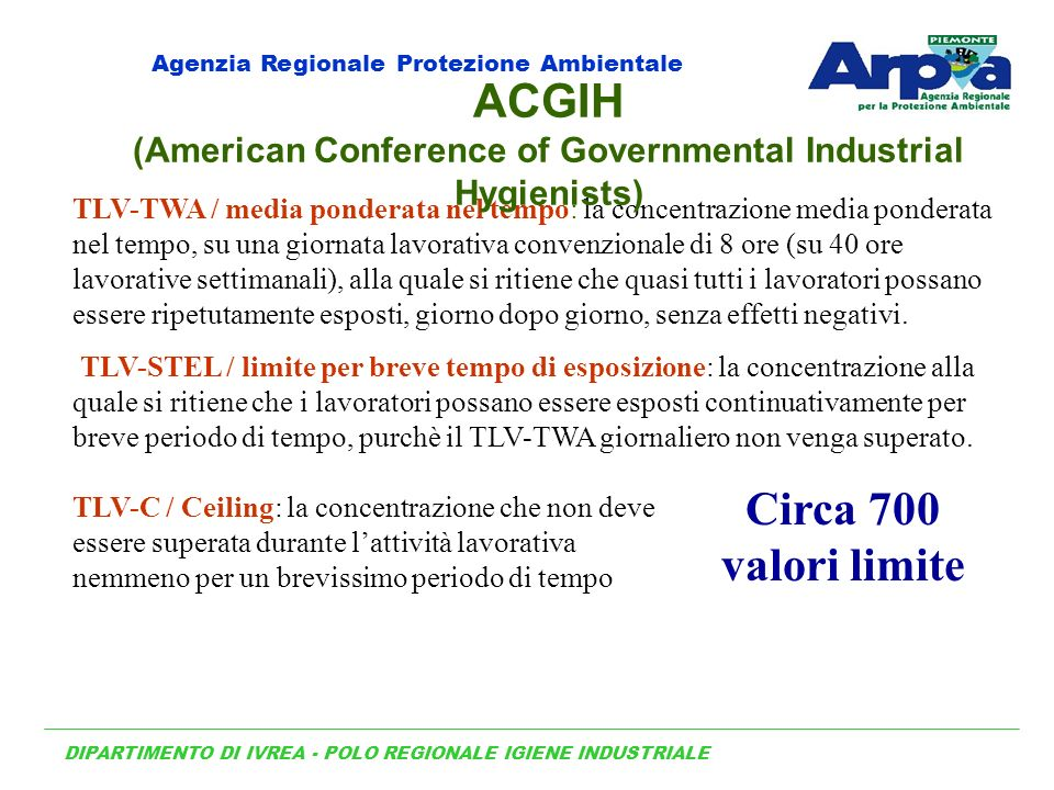 (American Conference of Governmental Industrial Hygienists)
