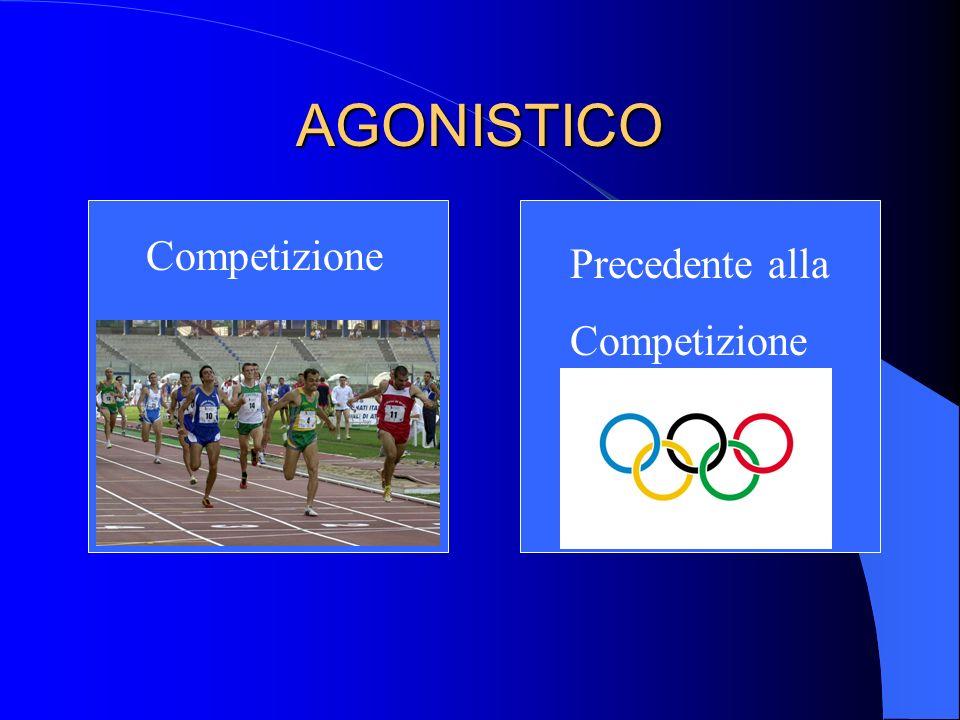 AGONISTICO Competizione Precedente alla Competizione