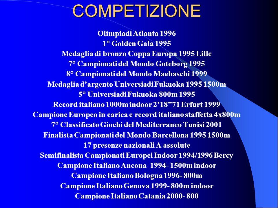 Campione Europeo in carica e record italiano staffetta 4x800m