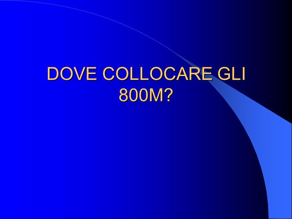 DOVE COLLOCARE GLI 800M