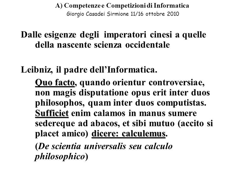Leibniz, il padre dell'Informatica.