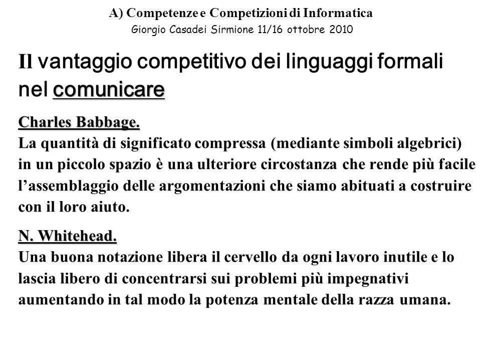 Il vantaggio competitivo dei linguaggi formali nel comunicare