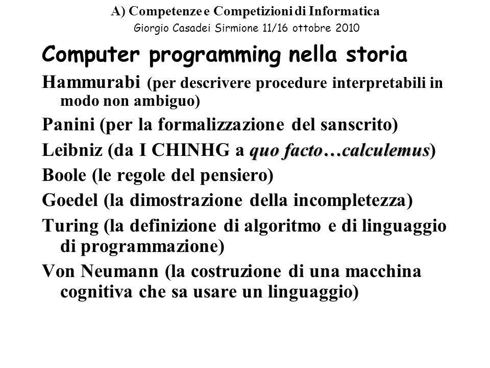 Computer programming nella storia