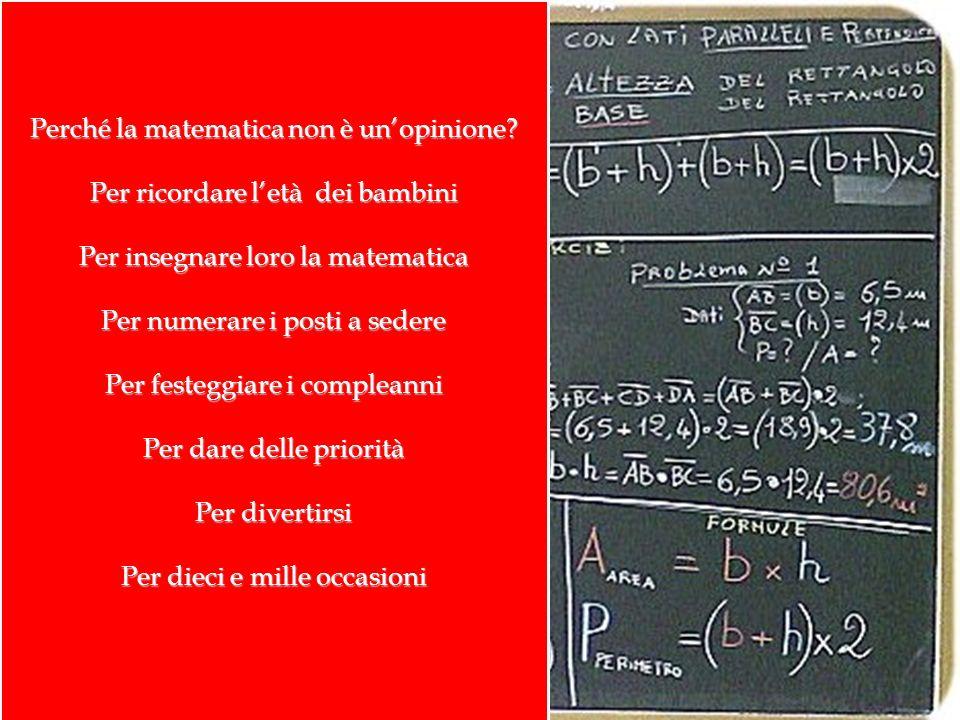 Perché la matematica non è un'opinione