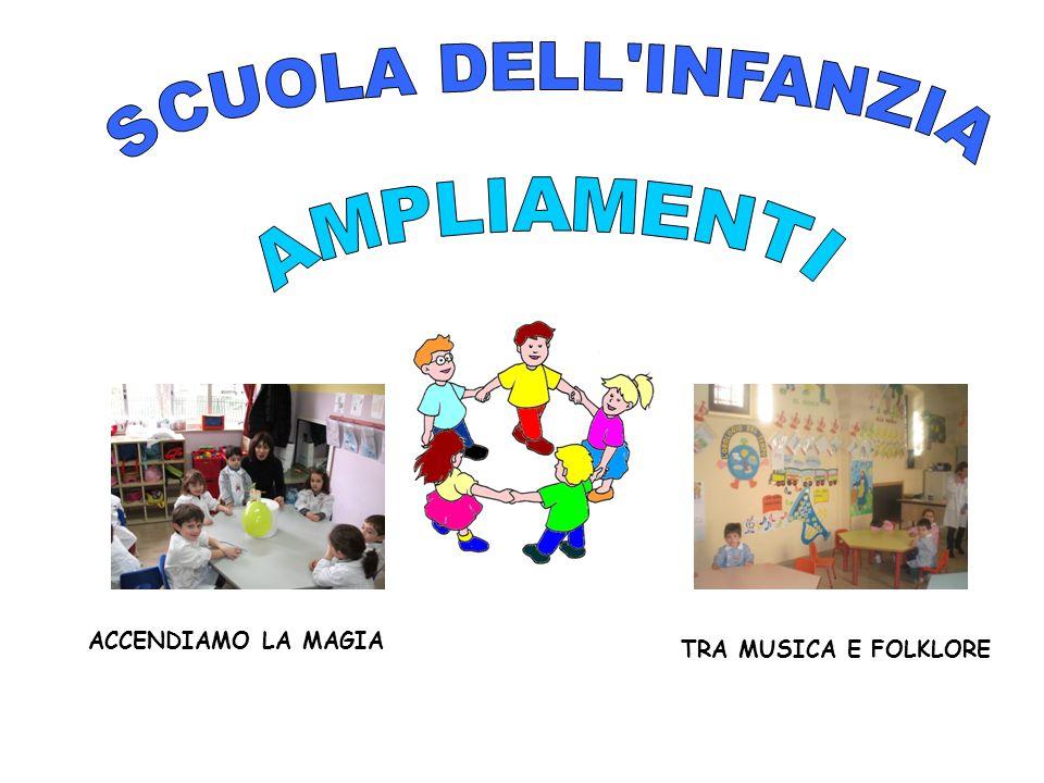 SCUOLA DELL INFANZIA AMPLIAMENTI ACCENDIAMO LA MAGIA