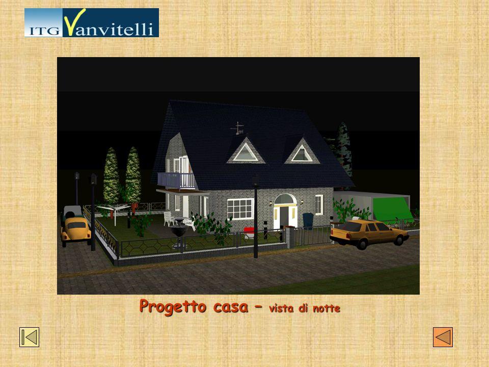 Progetto casa – vista di notte