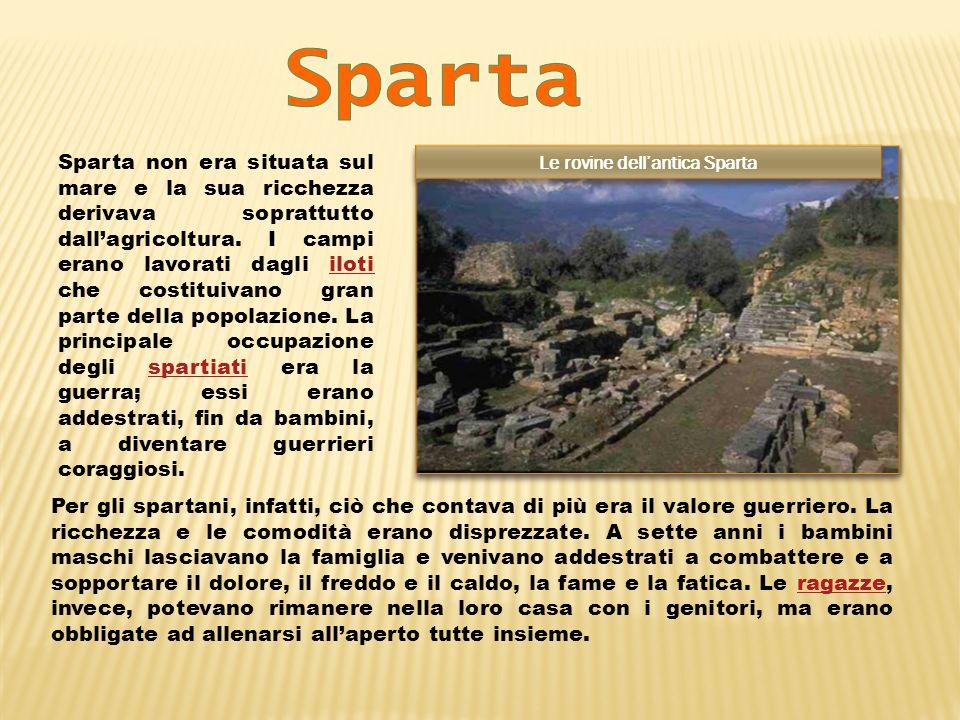 Le rovine dell'antica Sparta