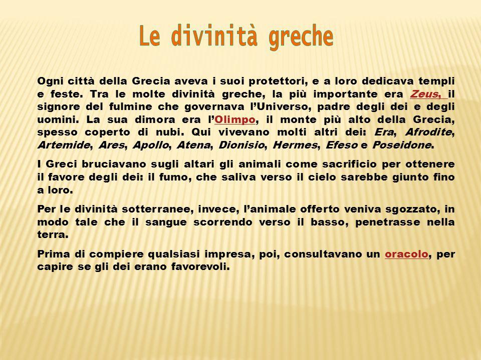 Le divinità greche