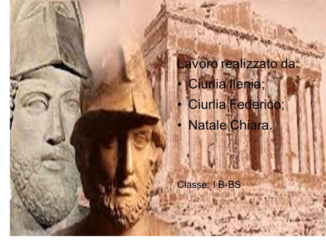 Lavoro realizzato da: Ciurlia Ilenia; Ciurlia Federico; Natale Chiara.