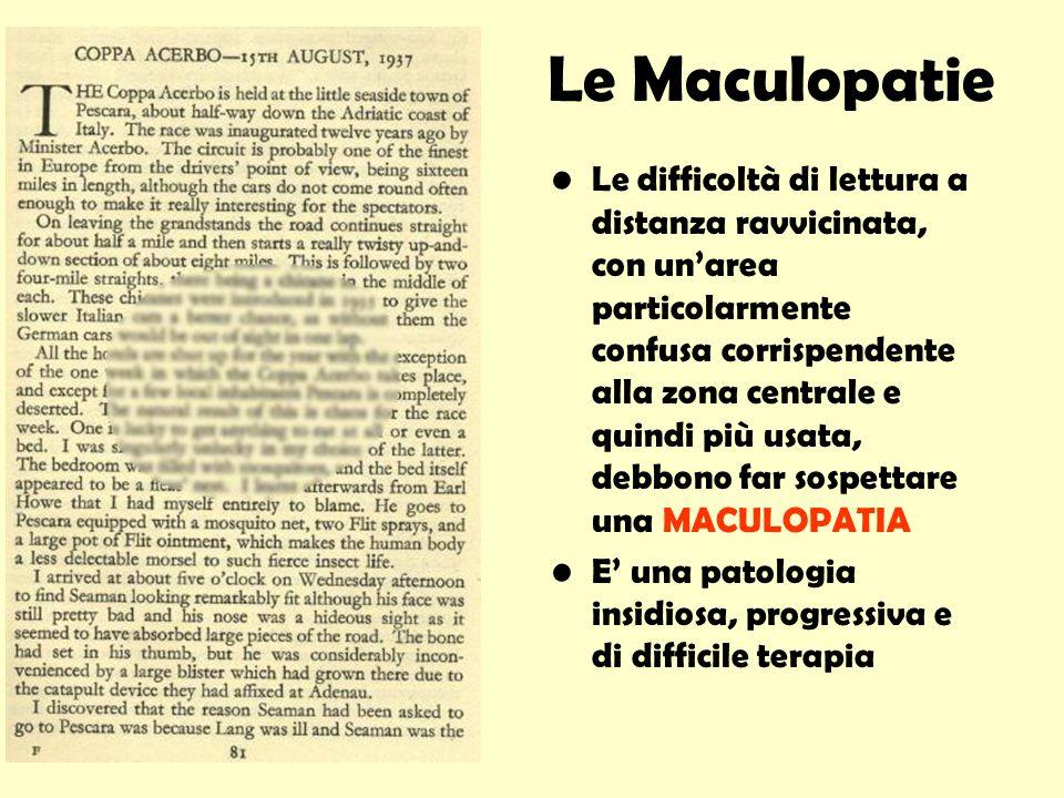 Le Maculopatie