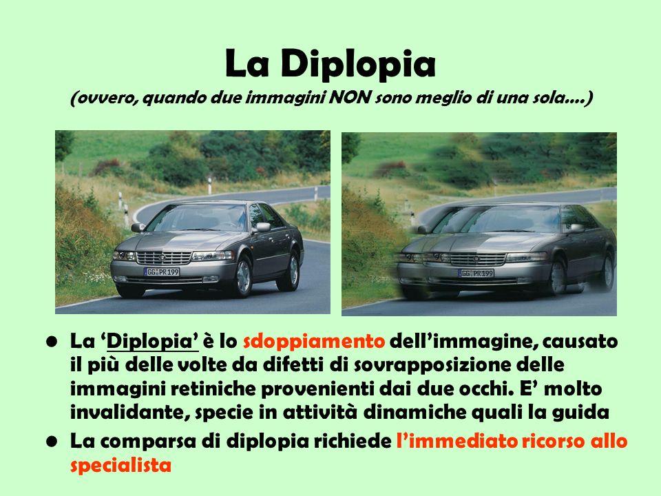 La Diplopia (ovvero, quando due immagini NON sono meglio di una sola…