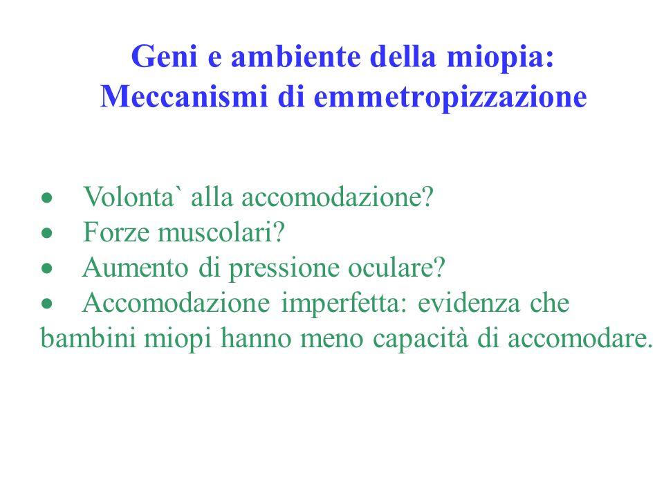 Geni e ambiente della miopia: Meccanismi di emmetropizzazione