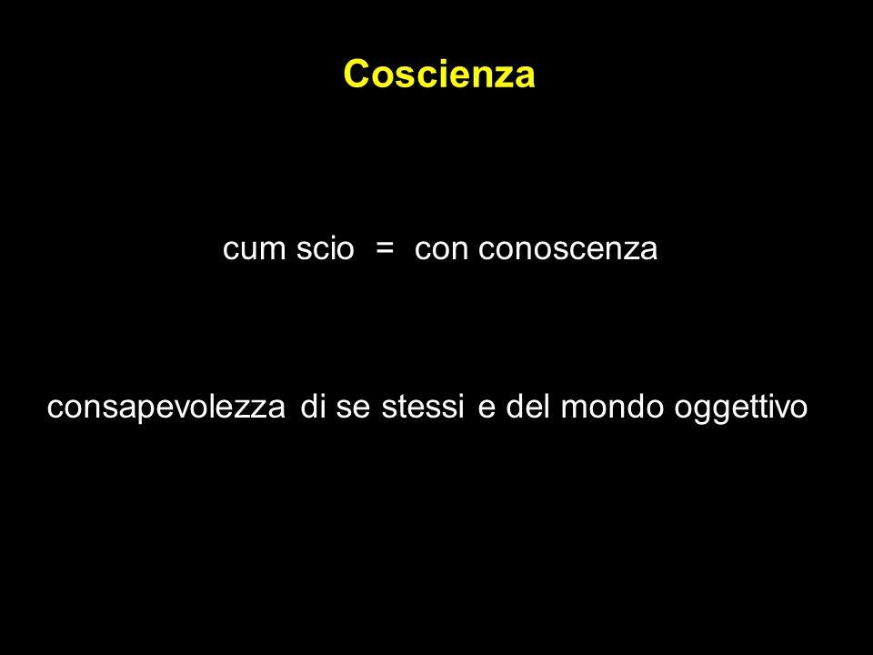 Coscienza cum scio = con conoscenza