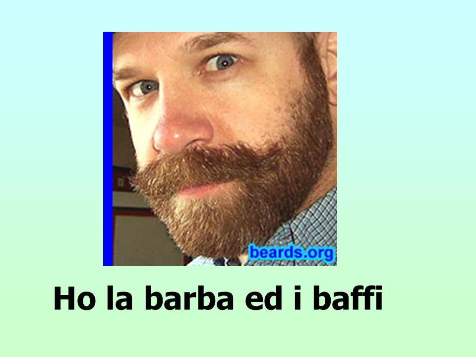 Ho la barba ed i baffi