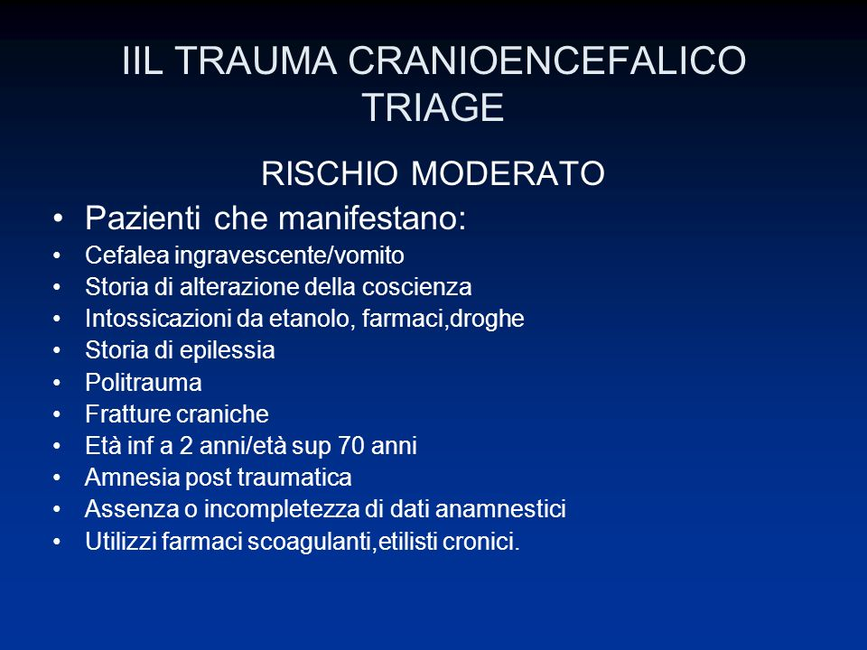 IIL TRAUMA CRANIOENCEFALICO TRIAGE