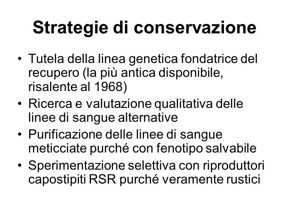 Strategie di conservazione
