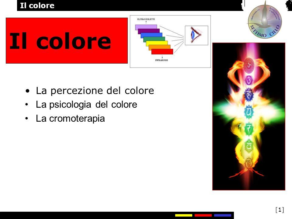 Il colore La percezione del colore La psicologia del colore