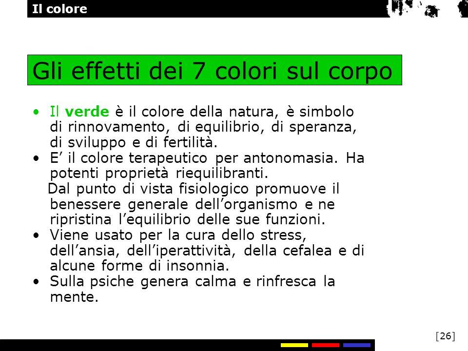 Gli effetti dei 7 colori sul corpo