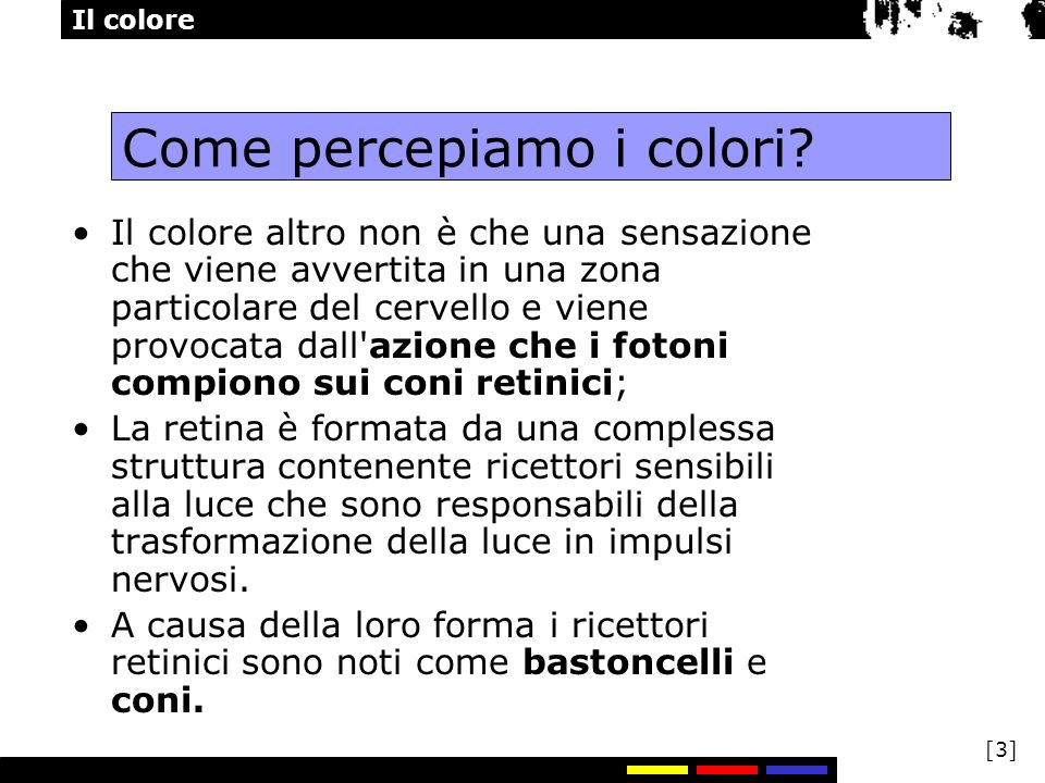 Come percepiamo i colori