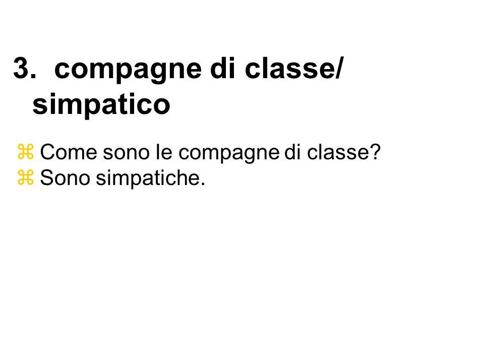 3. compagne di classe/ simpatico
