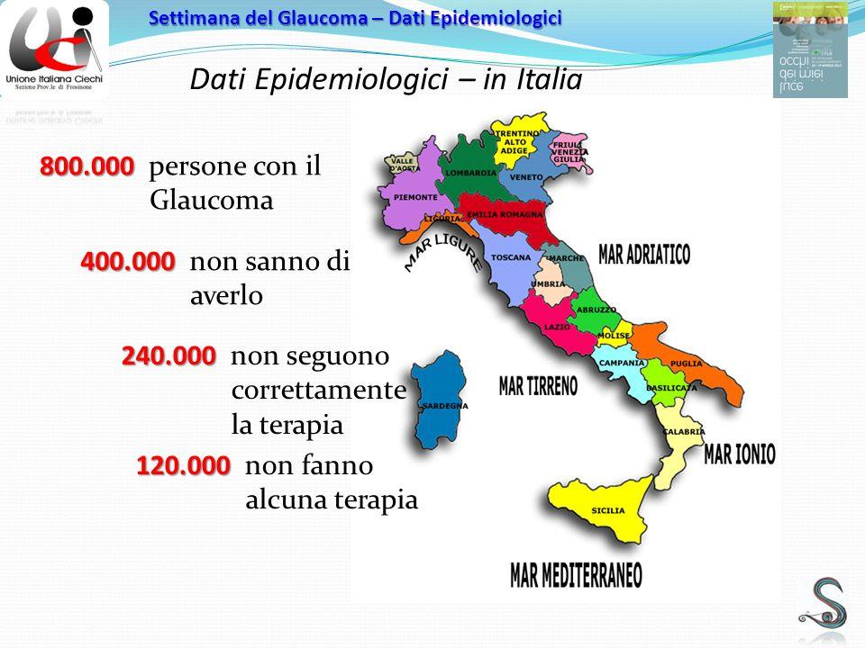 Dati Epidemiologici – in Italia