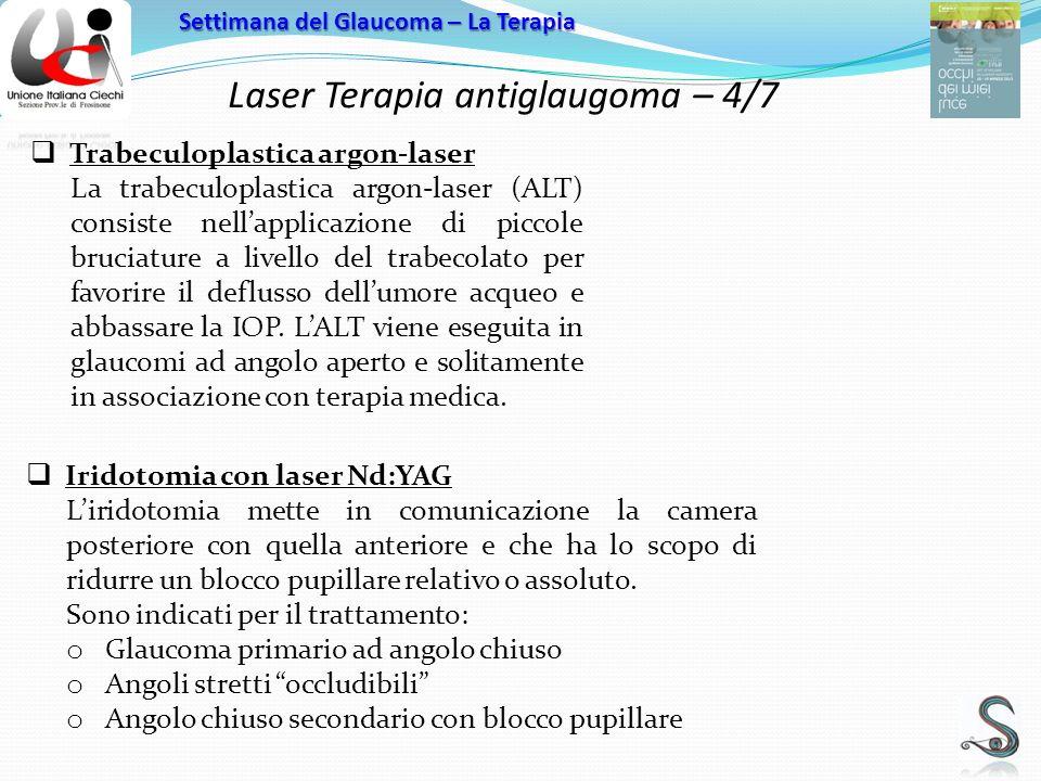 Laser Terapia antiglaugoma – 4/7