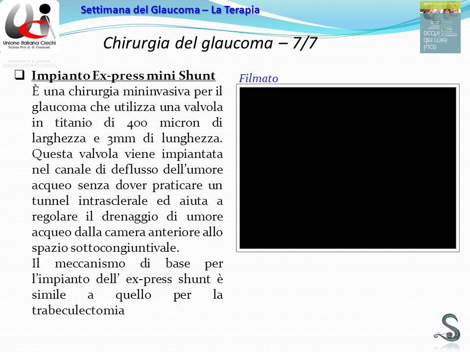 Chirurgia del glaucoma – 7/7