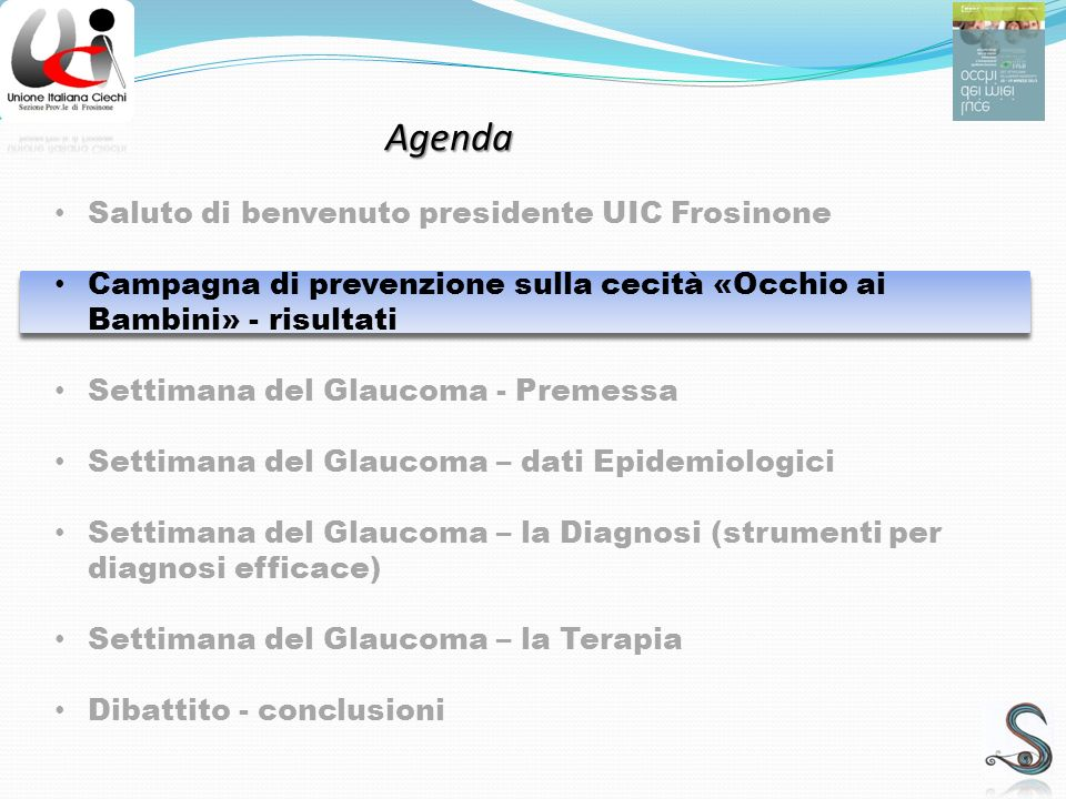 Agenda Saluto di benvenuto presidente UIC Frosinone