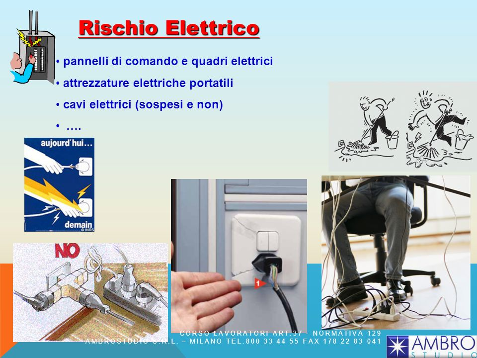 Rischio Elettrico pannelli di comando e quadri elettrici