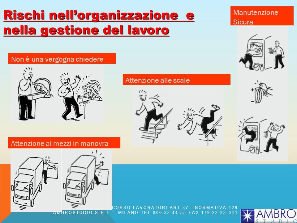 Rischi nell'organizzazione e nella gestione del lavoro