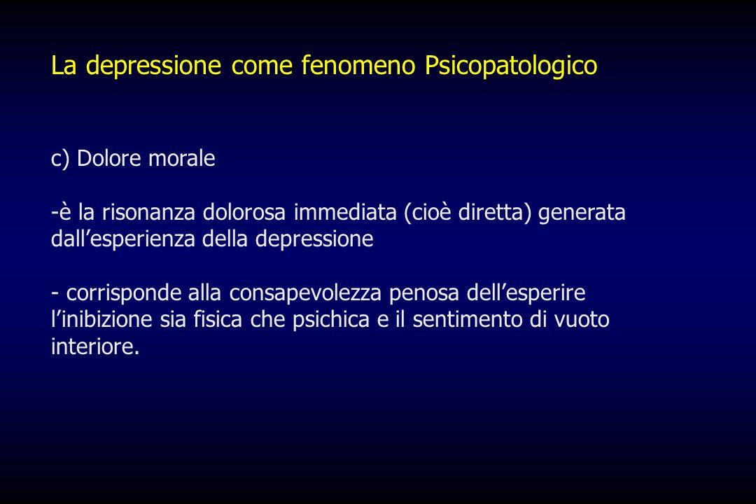 La depressione come fenomeno Psicopatologico