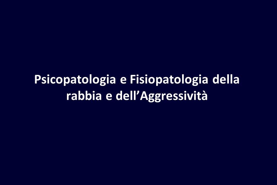 Psicopatologia e Fisiopatologia della rabbia e dell'Aggressività