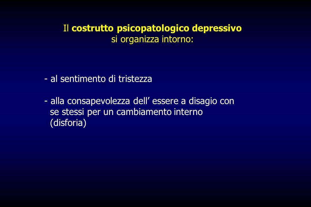 Il costrutto psicopatologico depressivo