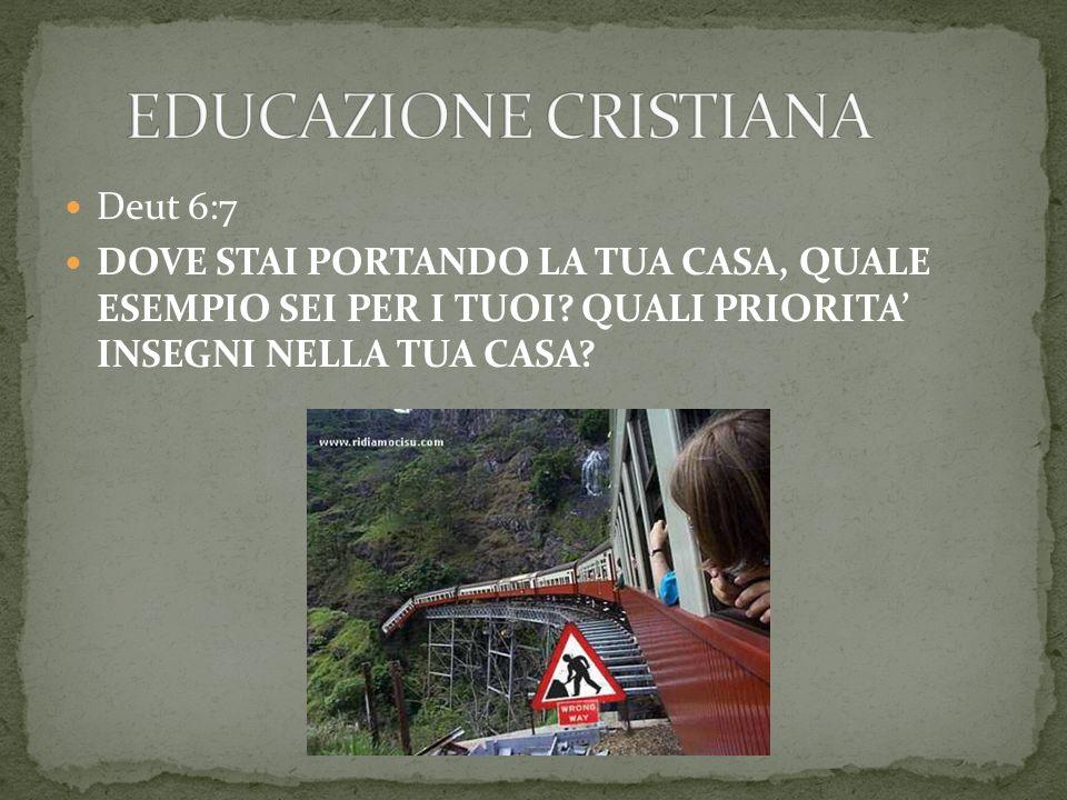 EDUCAZIONE CRISTIANA Deut 6:7