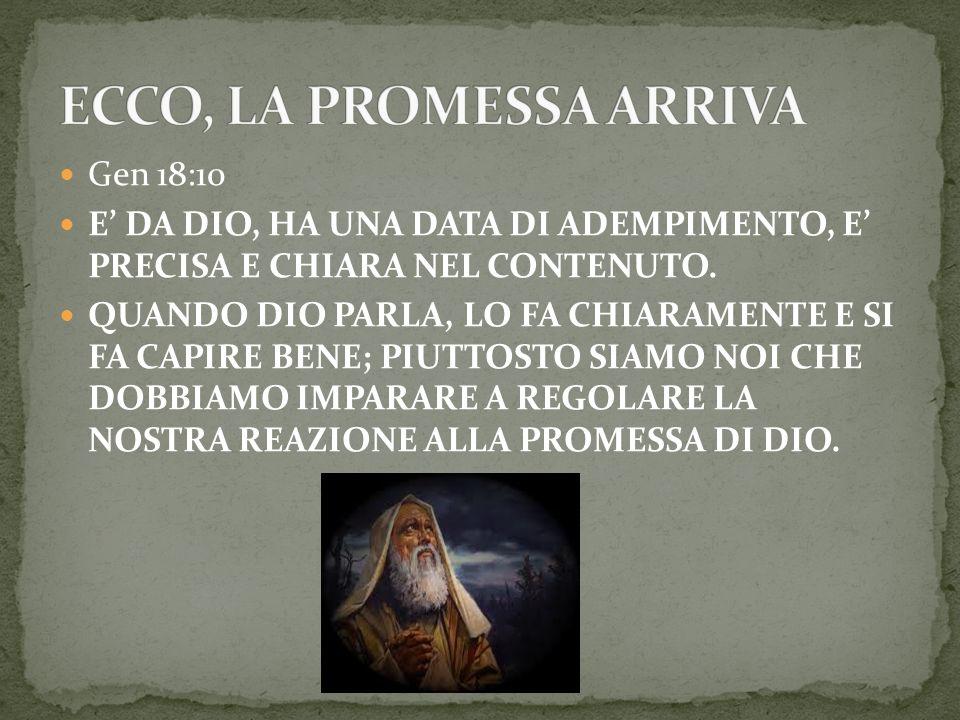 ECCO, LA PROMESSA ARRIVA