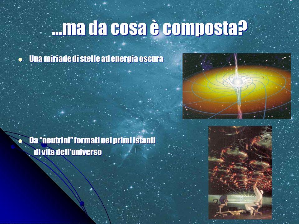 …ma da cosa è composta Una miriade di stelle ad energia oscura