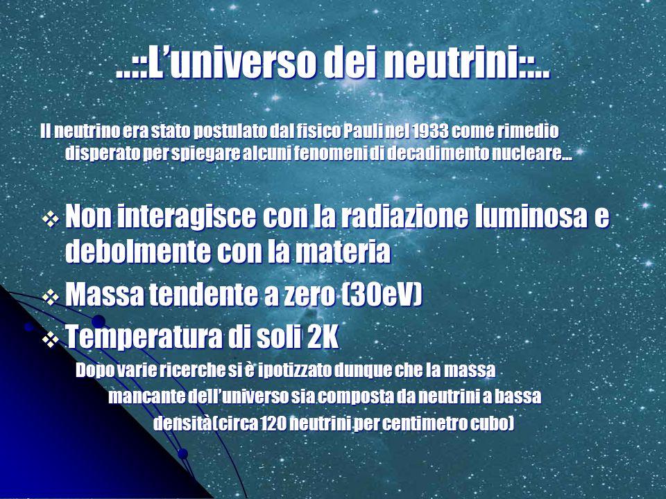 ..::L'universo dei neutrini::..