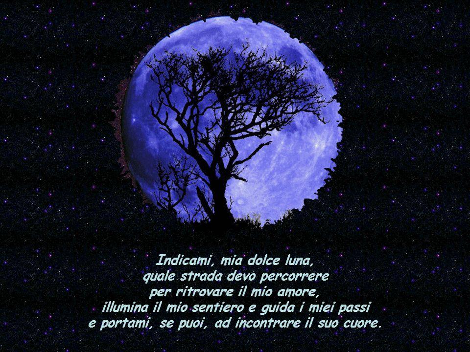 Indicami, mia dolce luna, quale strada devo percorrere