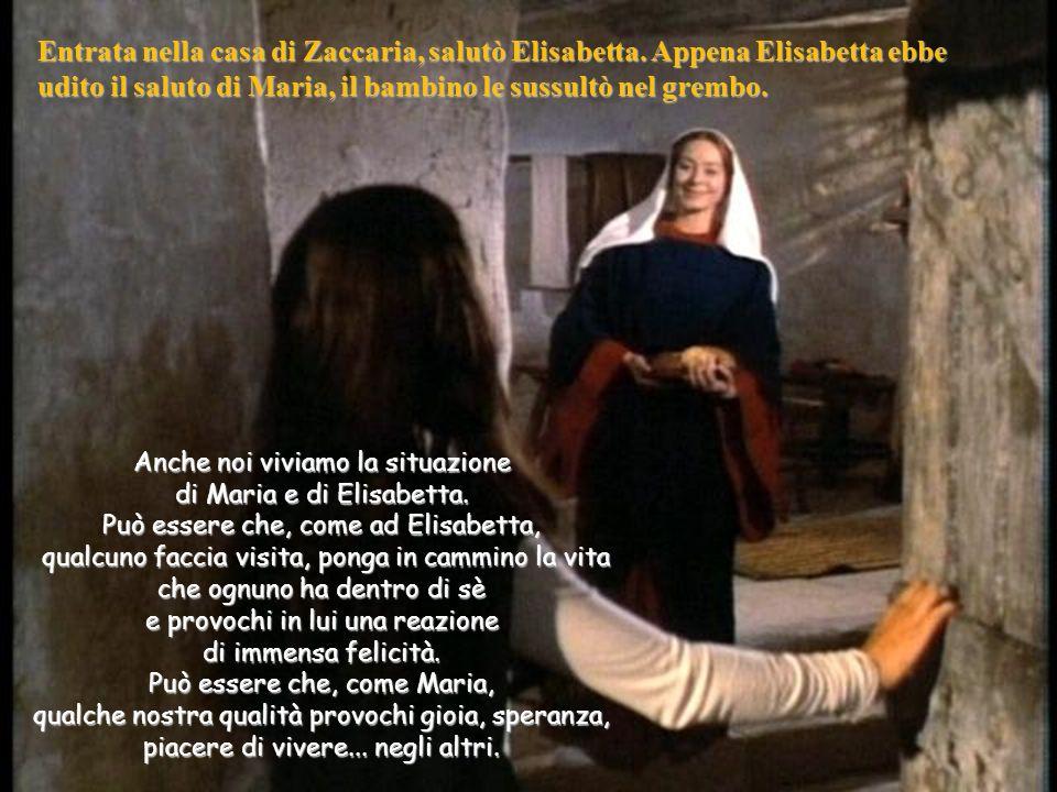 Entrata nella casa di Zaccaria, salutò Elisabetta