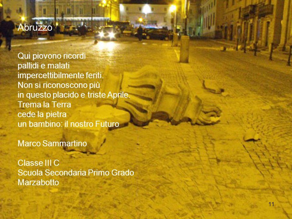 Abruzzo Qui piovono ricordi pallidi e malati