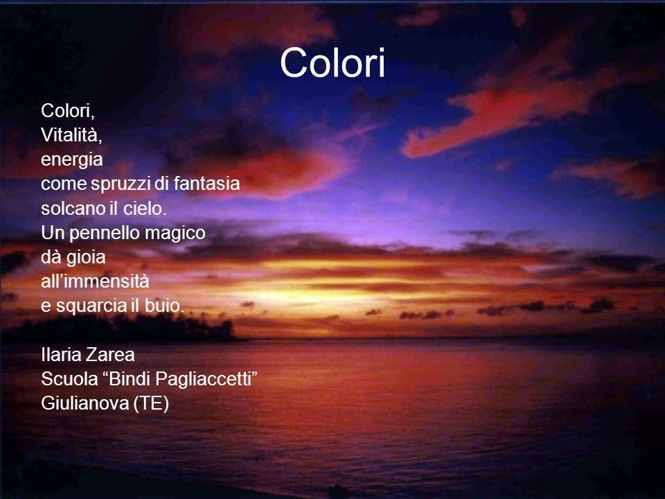 Colori Colori, Vitalità, energia come spruzzi di fantasia