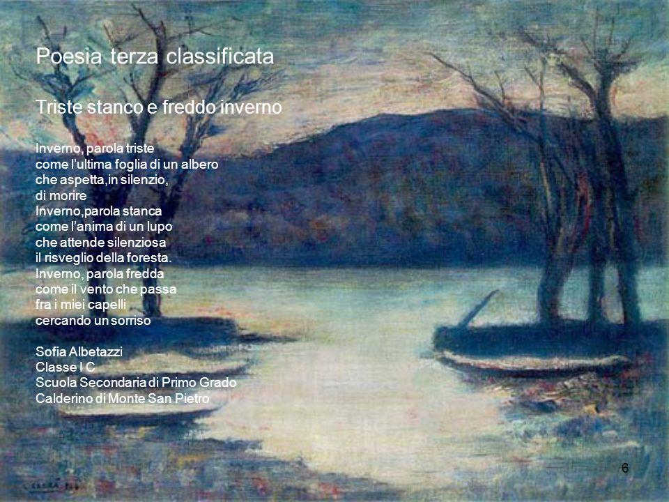 Poesia terza classificata Triste stanco e freddo inverno