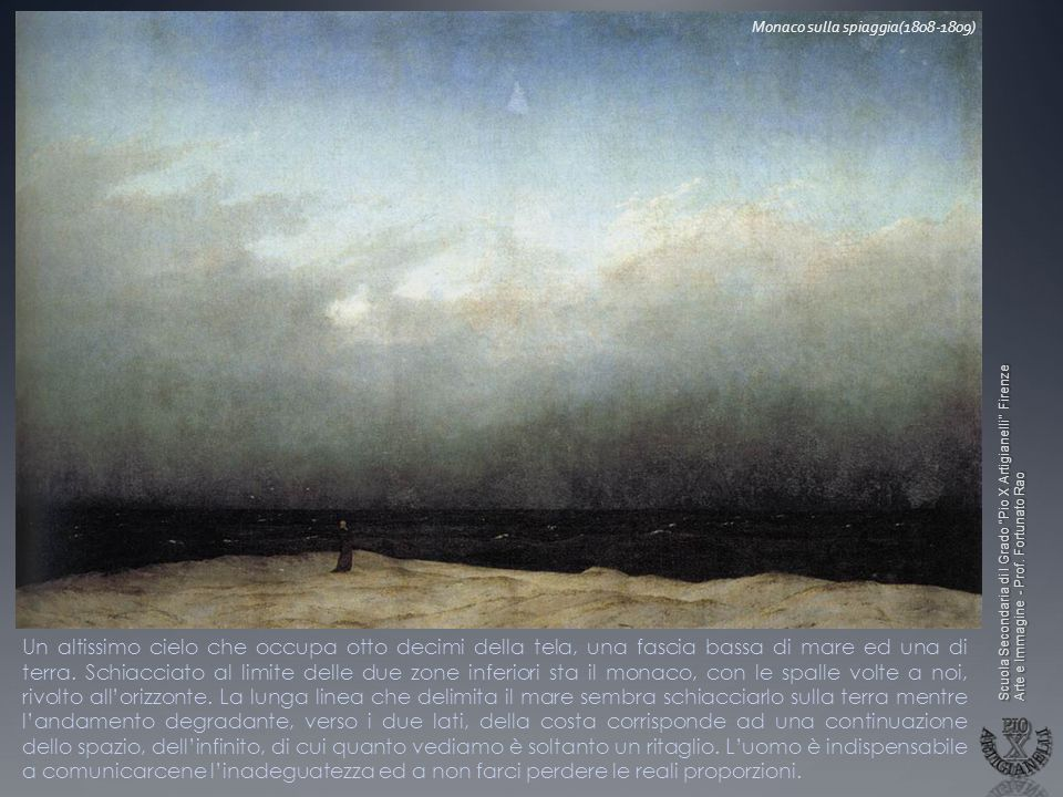 Monaco sulla spiaggia(1808-1809)