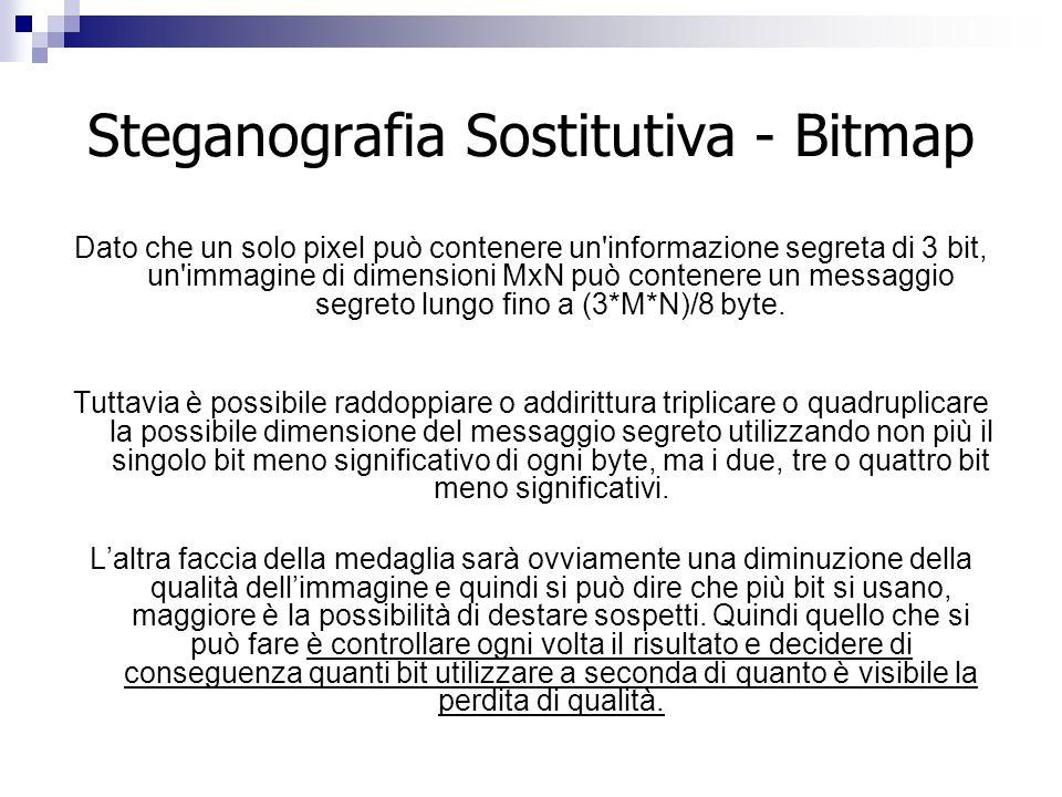 Steganografia Sostitutiva - Bitmap