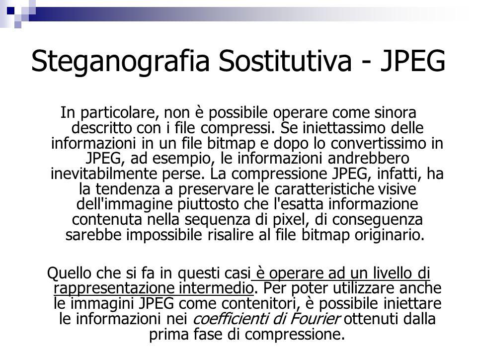 Steganografia Sostitutiva - JPEG