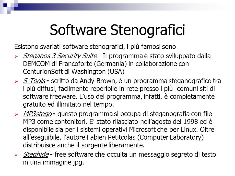 Software Stenografici